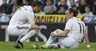 dua punggawah Madrid mengalami cedera yang belum pasti akan kabarnya