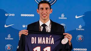 Di Maria resmi jadi pemain baru dari Paris Saint Germain