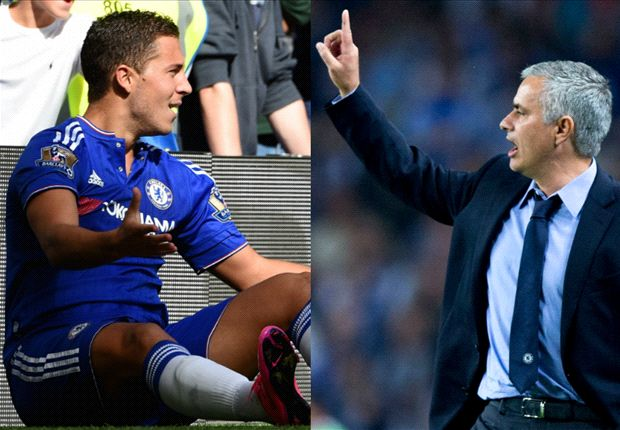 Hazard tegaskan bahwasannya tidak ada keteganggan di antara dirinya dengan pelatih Chelsea, Jose Mourinho