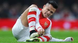Sanhez masih belum dapat di mainkan karena cederanya masih belum sembuh total